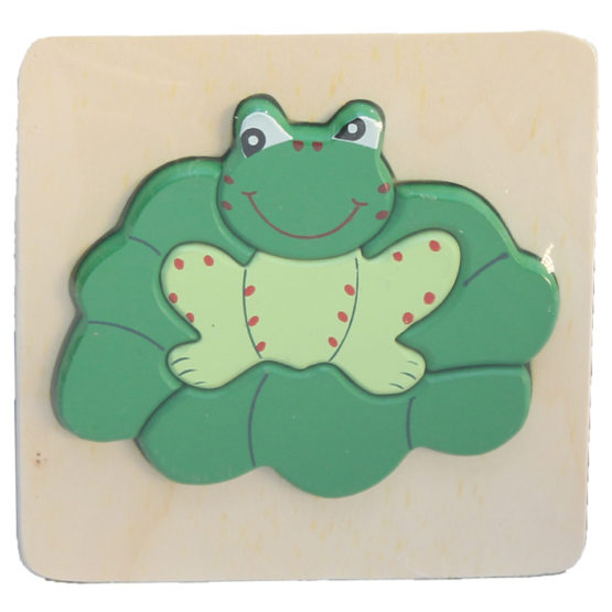 WOODEN PUZZLE THICK - FROG