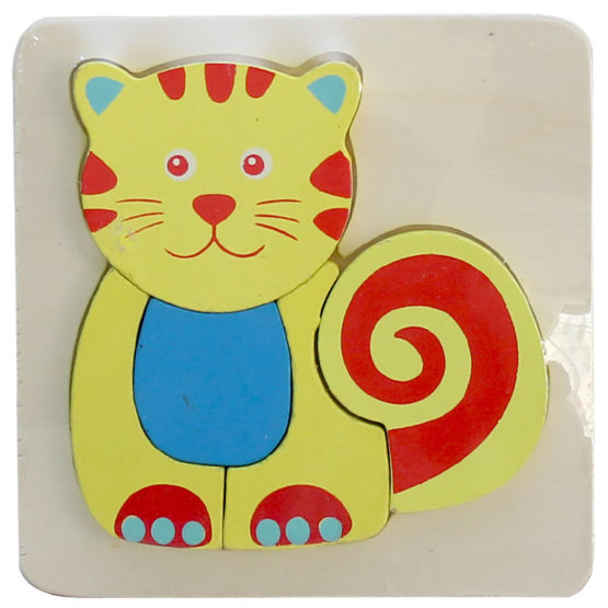 WOODEN PUZZLE THICK - CAT