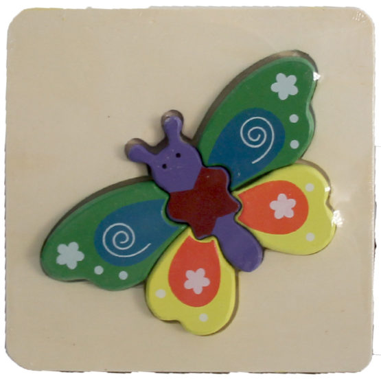 WOODEN PUZZLE THICK - BUTTERFLY 2