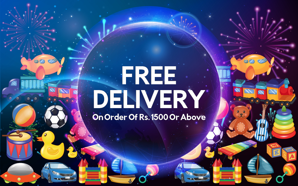 Get Free Delivery on Orders of Rs. 1500 and above