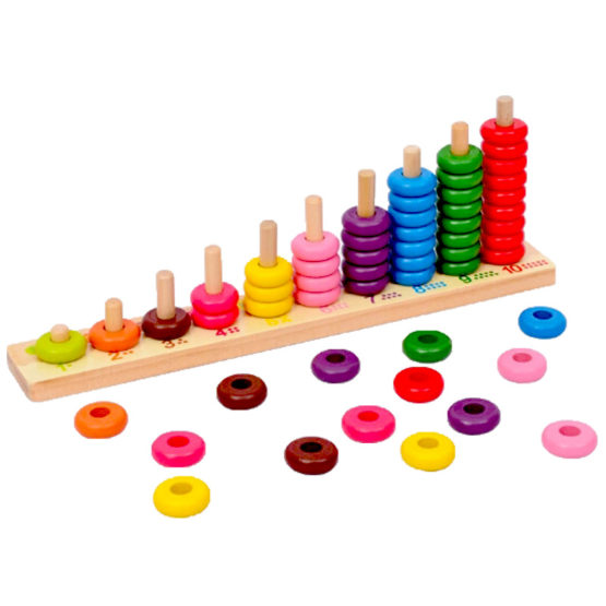 NUMBER COUNTING CIRCLES - WOODEN