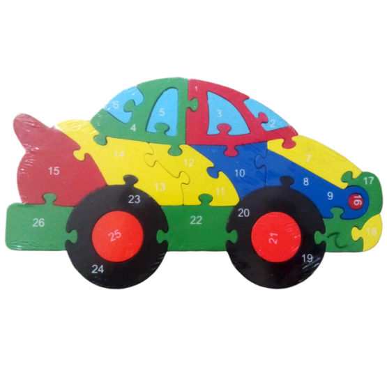 ALPHABETS & NUMBERS PUZZLE - CAR