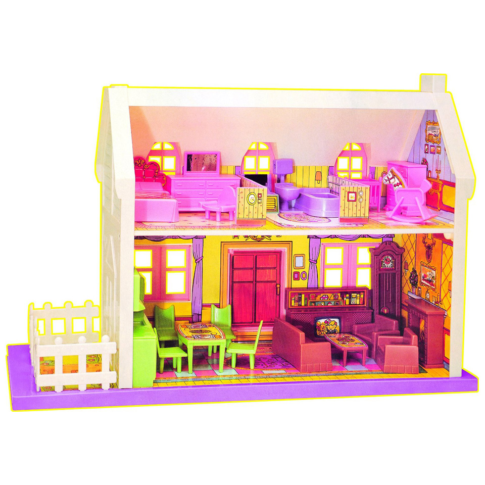 Buy Big Doll House 34 Pieces Pink At Online Shopping Store