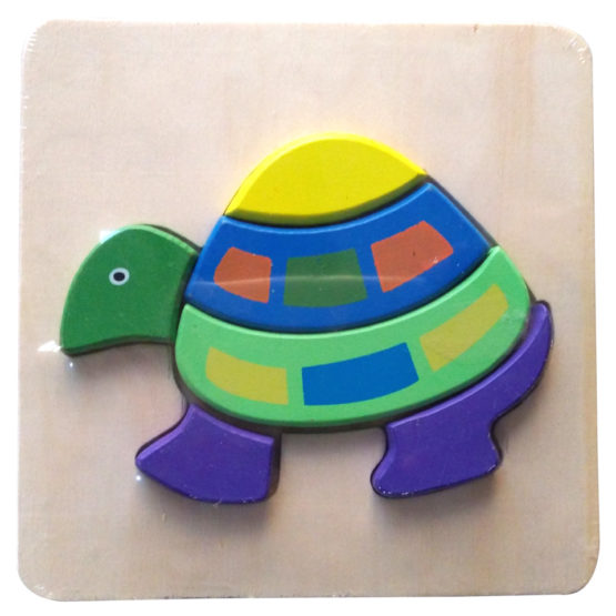 WOODEN PUZZLE THICK – TURTLE
