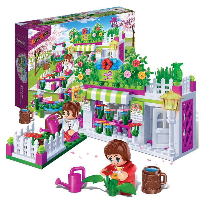 Building Toys Teens : Banbao girls flower shop building blocks planet