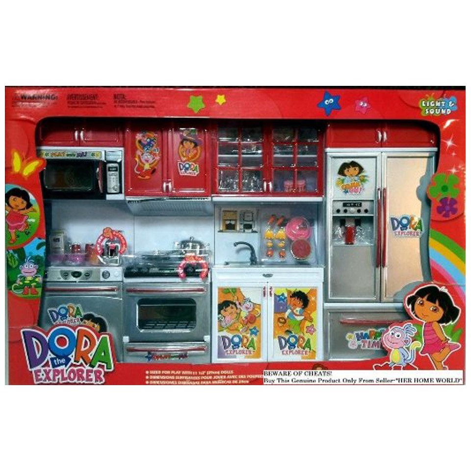 Dora full kitchen set for youngster having passion in cooking and cullinary