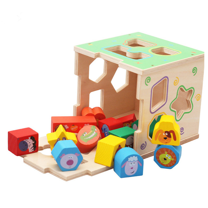 Cartoon Shapes Sorting Intelligence Learning Box for ...