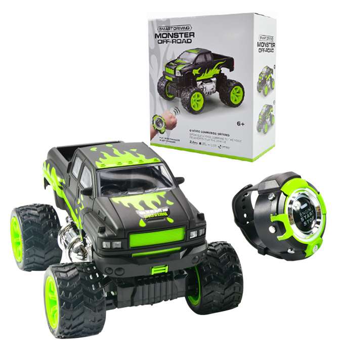 11e35cdd99d Monster Off-Road RC Truck with Smart Watch Voice Control – 1 18 Scale –  2.4GHz